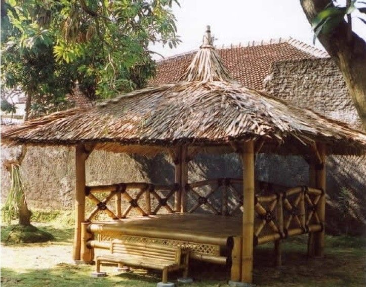 Bal bali site de gazebolr jardin terrasse pinterest jardin d 39 eau bambou et gazebo - Pergola bambou jardin ...