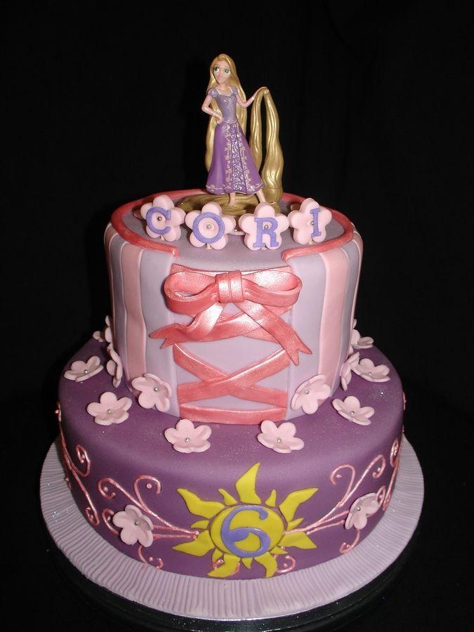 Rapunzel cake my girl would love it festa Rapunzel Pinterest