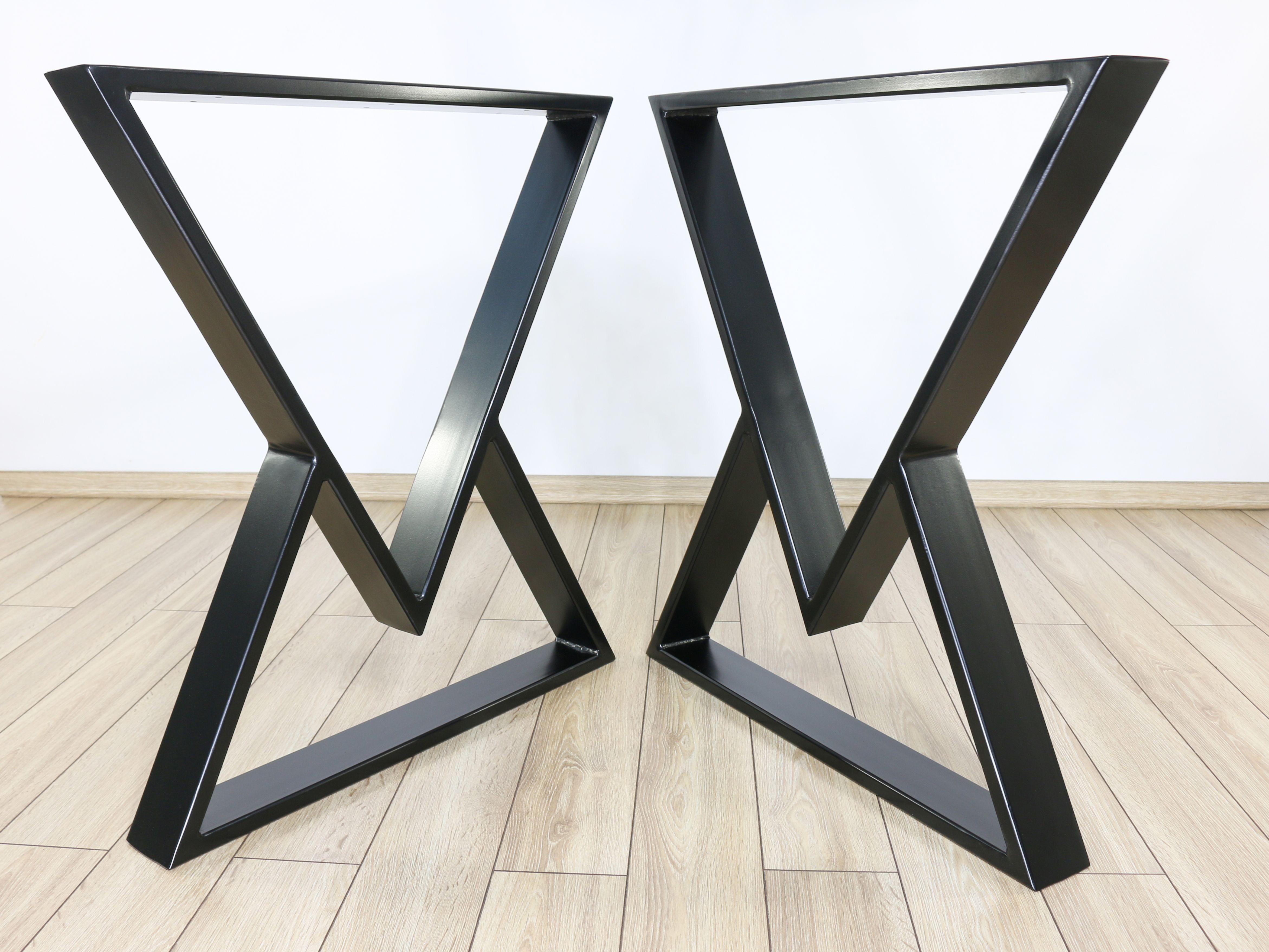 Diamond Table Legs Set Of 2 Metal Dining Table Legs Desk Etsy Metal Table Legs Metal Table Base Metal Dining Table