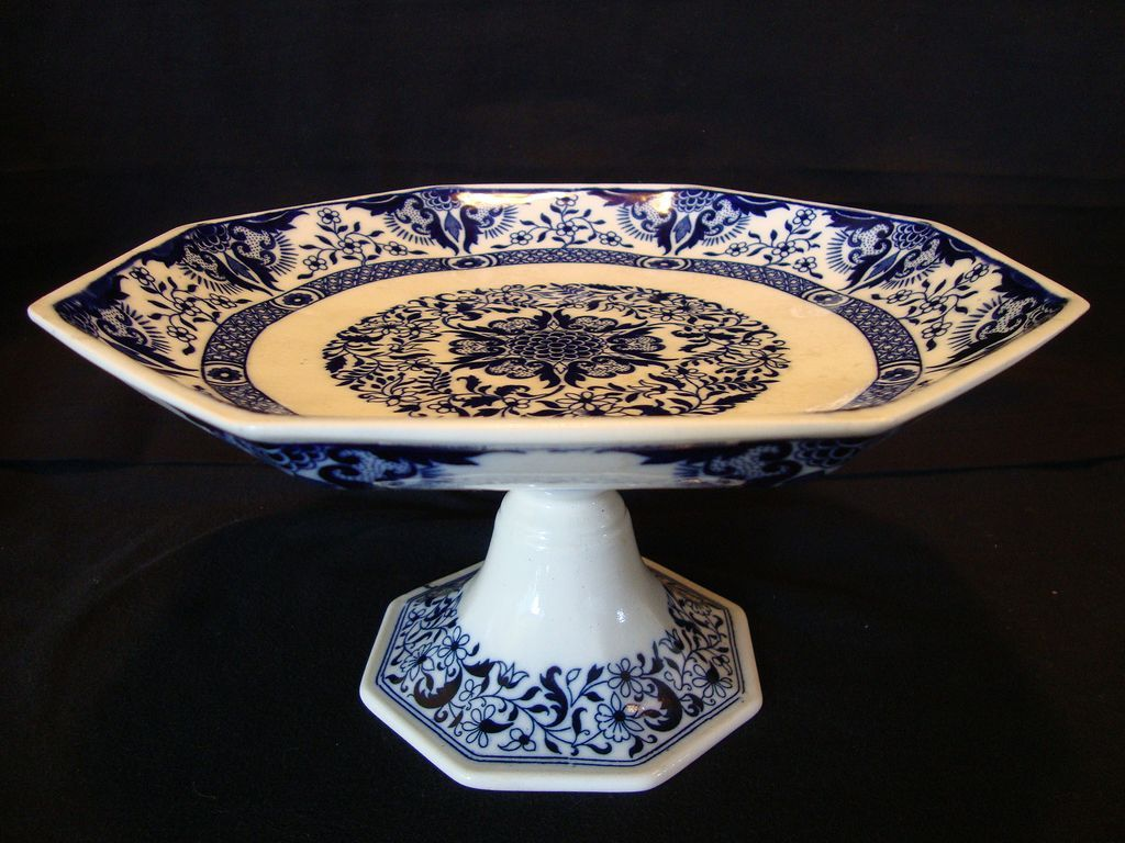 Awesome Mintons 8 Sided 132 Yr Old English Compote ...