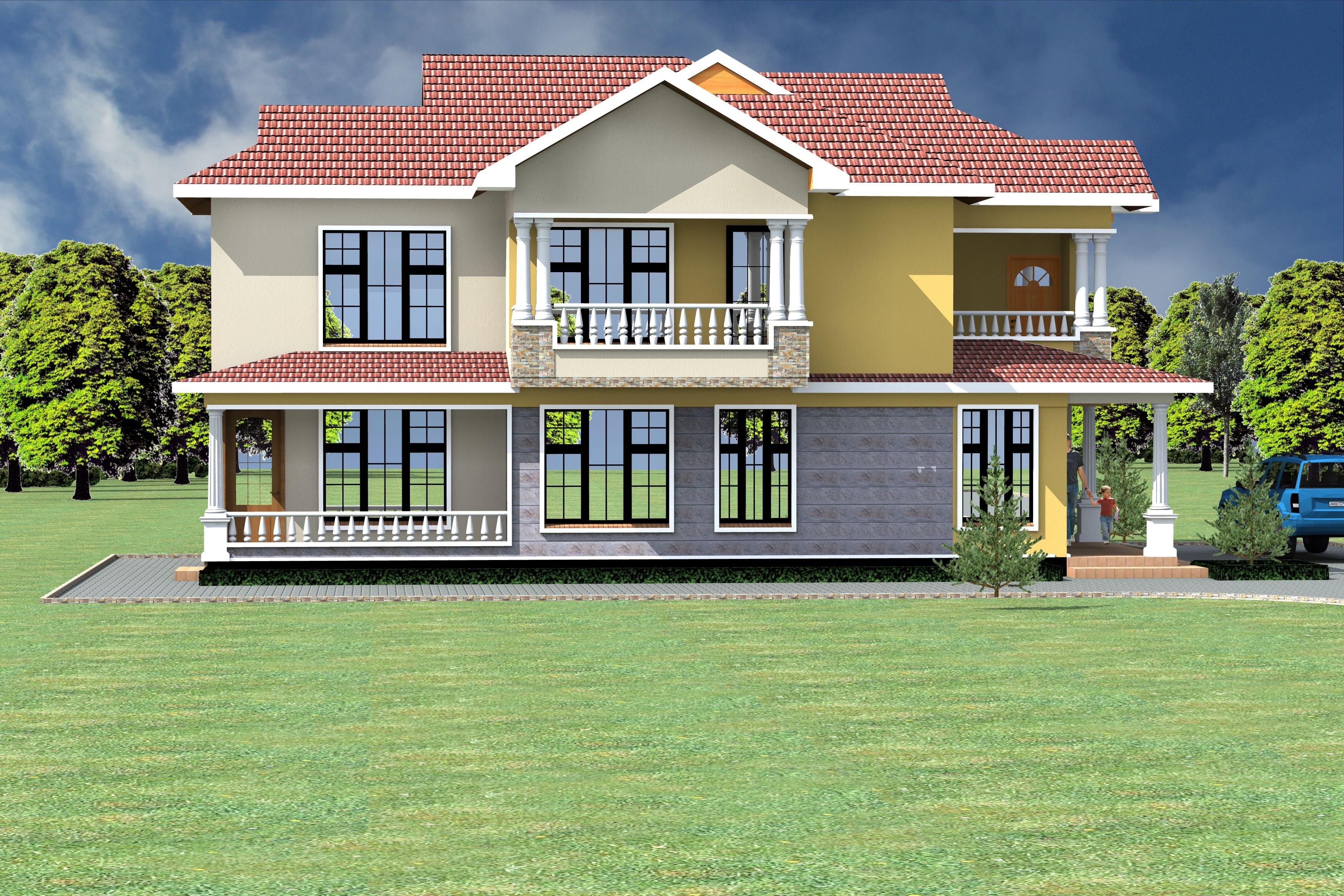 4 Bedroom Design 1032 A In 2021 House Projects Architecture Architectural House Plans Modern House Plans