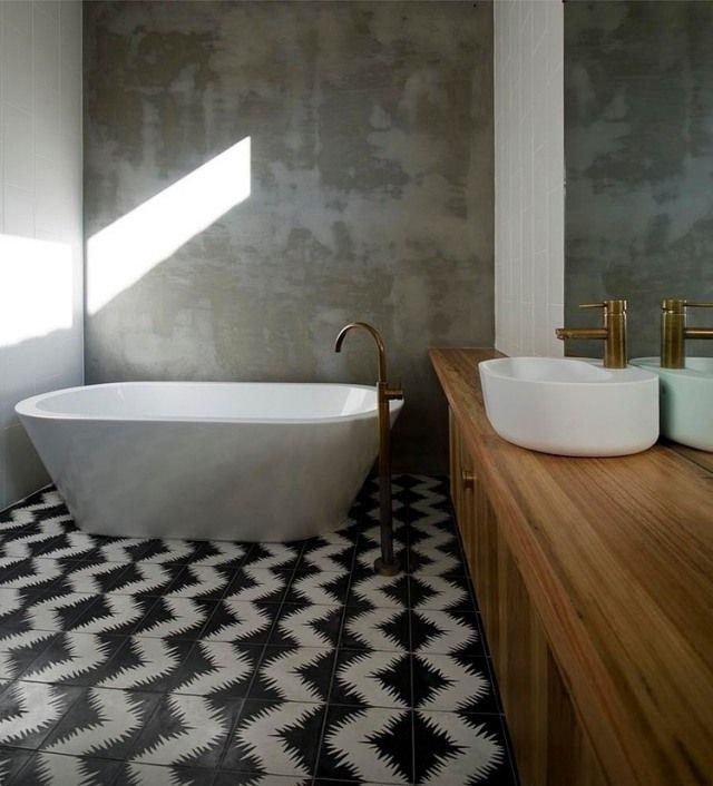 Carrelage de salle de bains 57 idées pour les murs et le sol - image carrelage salle de bain