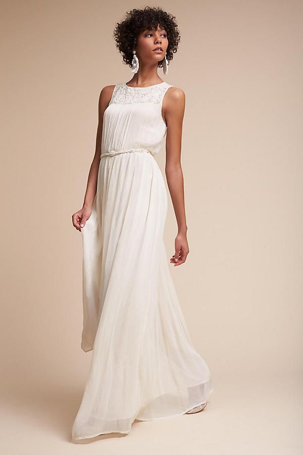 Anthropologie Jayne Dress Ivory Wedding Bridal Bridesmaid Maxi Gown ...