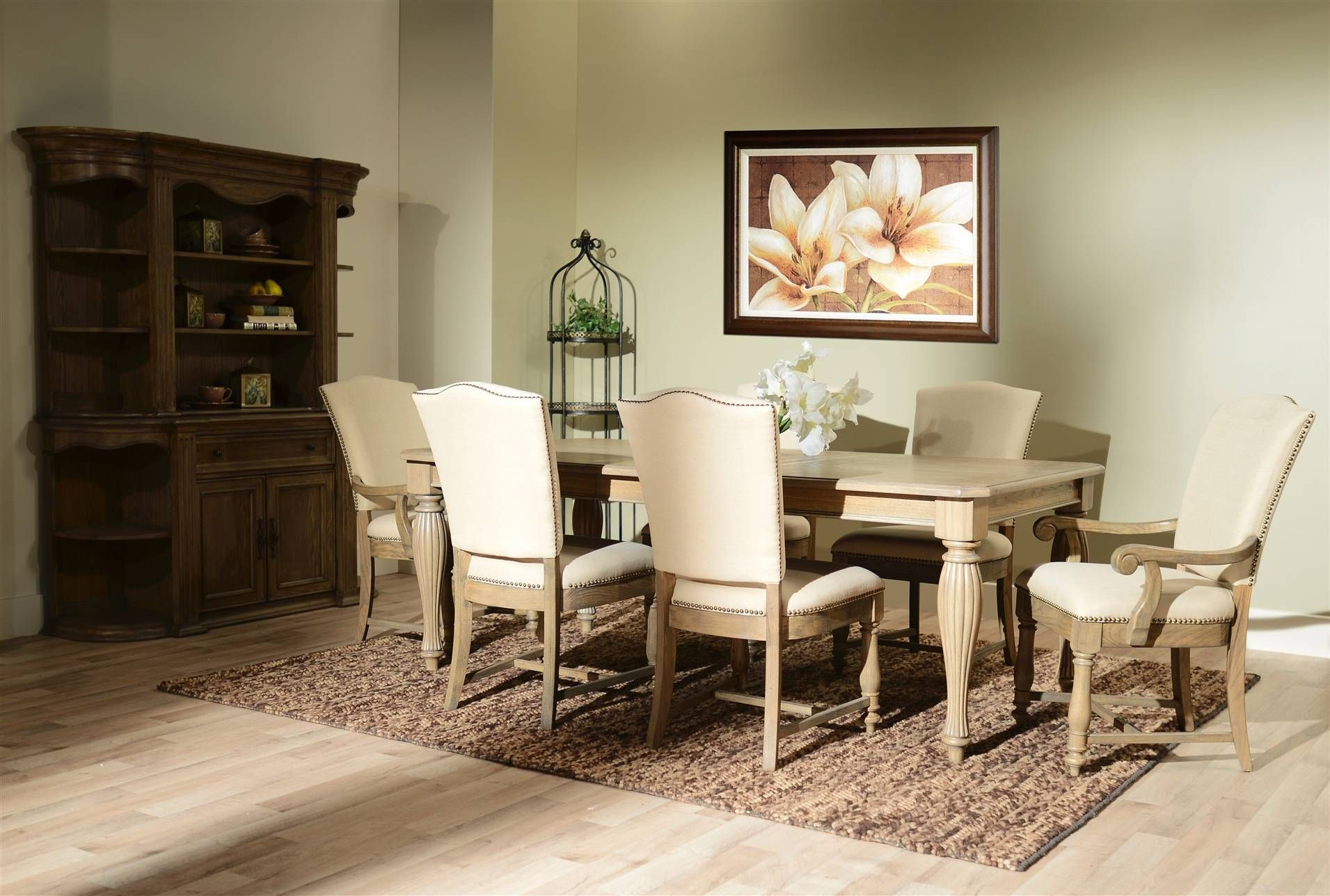 Best Sutton 7 Piece Rectangular Dining Set Rectangle Dining 640 x 480