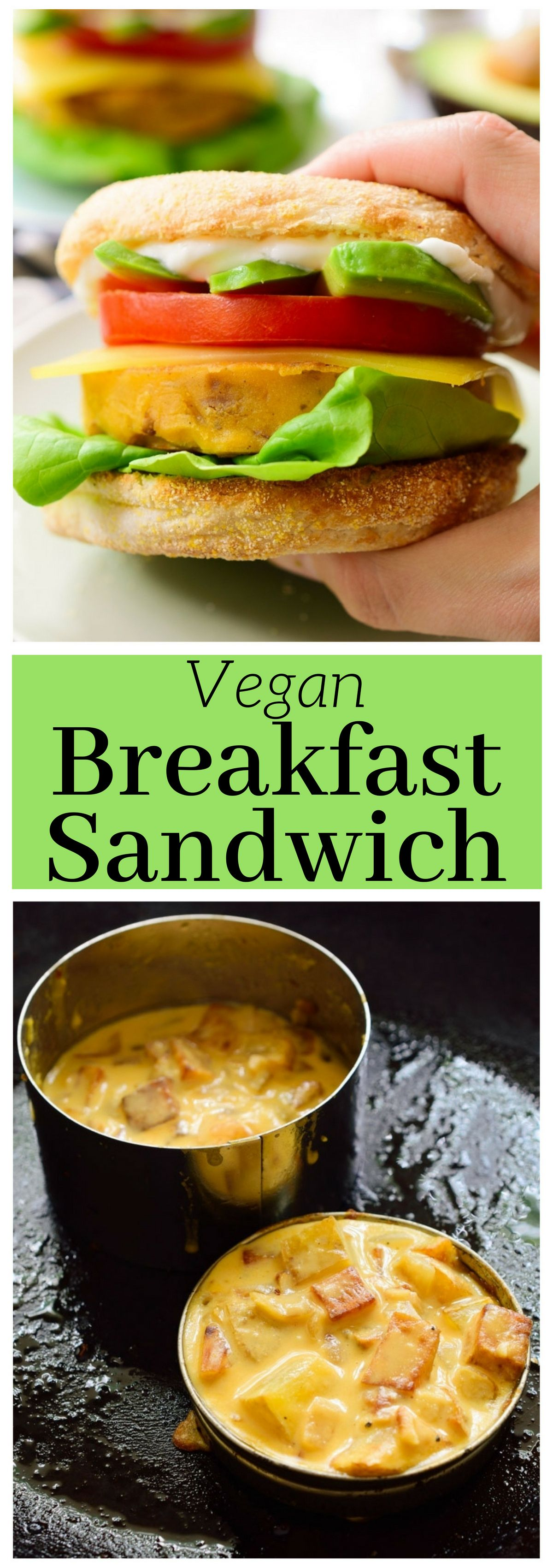 This Vegan Breakfast Sandwich Is Tofu Free And Makes A Delicious Sunday Brunch This Sandwich Features An Egg Vegan Sandwich Vegan English Muffins Vegan Eating