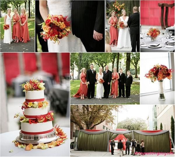 Bride\'s Best of Fall Wedding Colors | August wedding, Wedding and ...