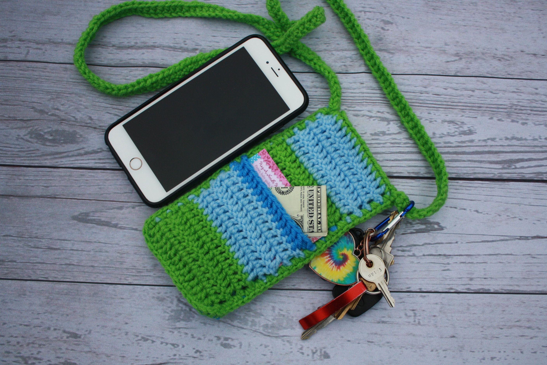 Crochet Pattern Crossbody Cell Phone Holder Cell Phone Sleeve