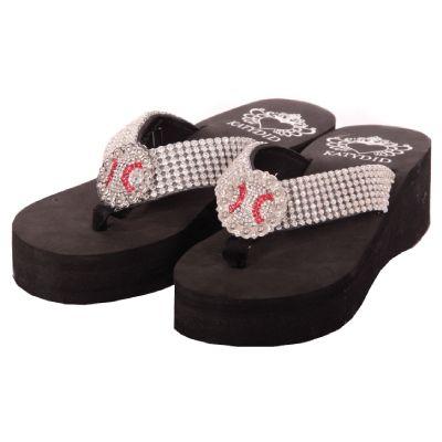 All Rhinestone Baseball Flip Flops By Katydid Baseball Flip Flops Baseball Fashion Sports Mom