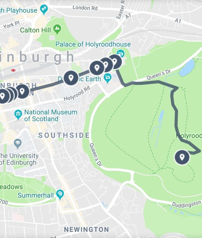 Exploring Arthur S Seat And Royal Mile In Edinburgh Map Guide