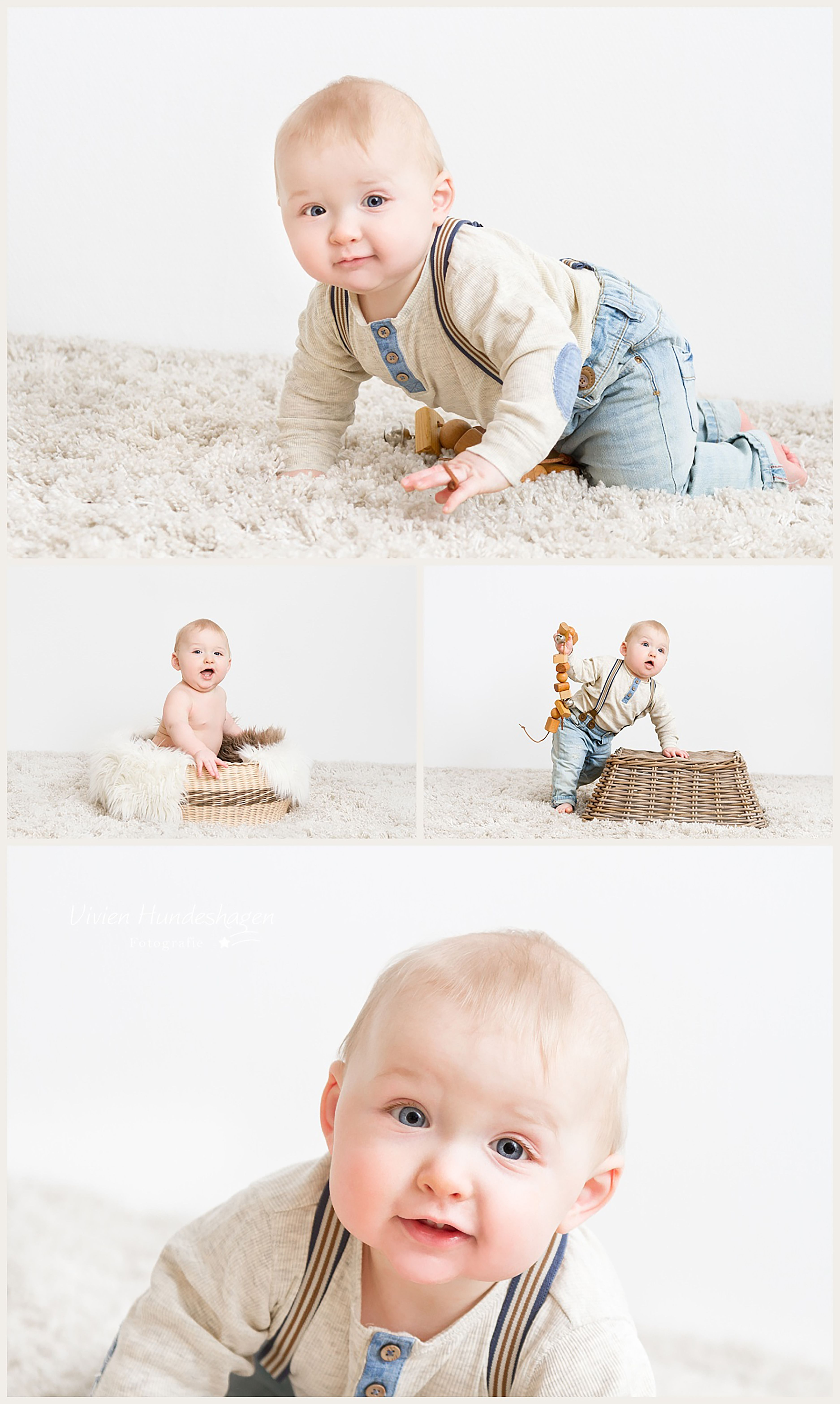 Babyfotos Mit Ben 9 Monate Hosentrager Sind So Toll 3 Babyfotos Baby Fotostudio