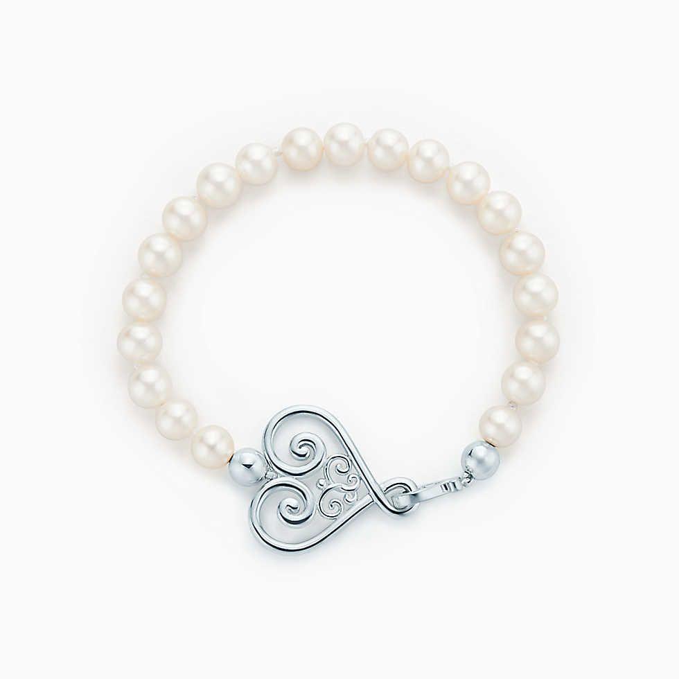 Palomas Venezia Goldoni heart pearl bracelet in sterling silver Tiffany & Co. TDqWdL47