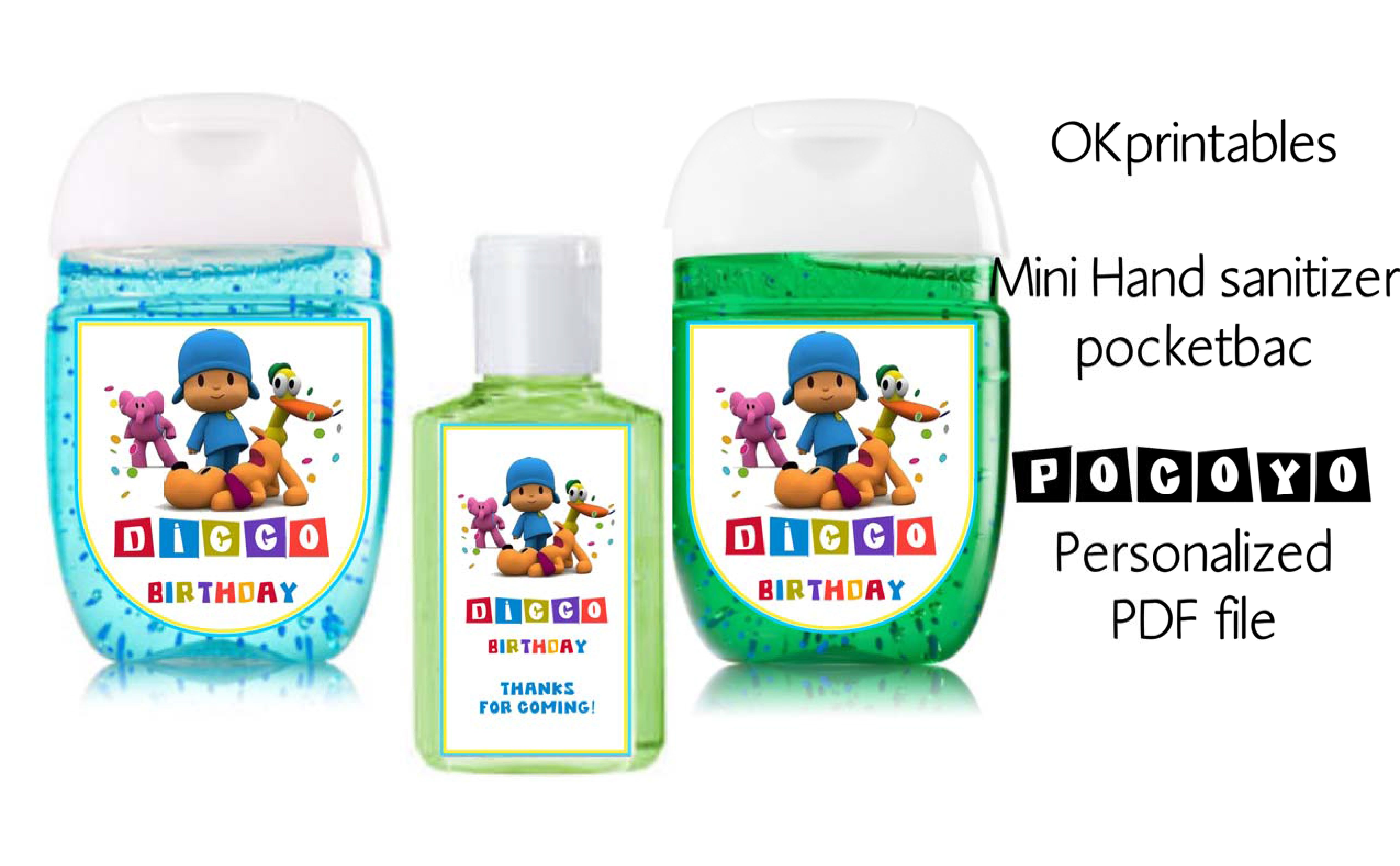 Birthday Personalized Hand Sanitizer Personalized Birthday