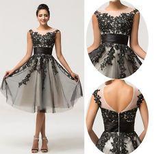 Black vintage style prom dress