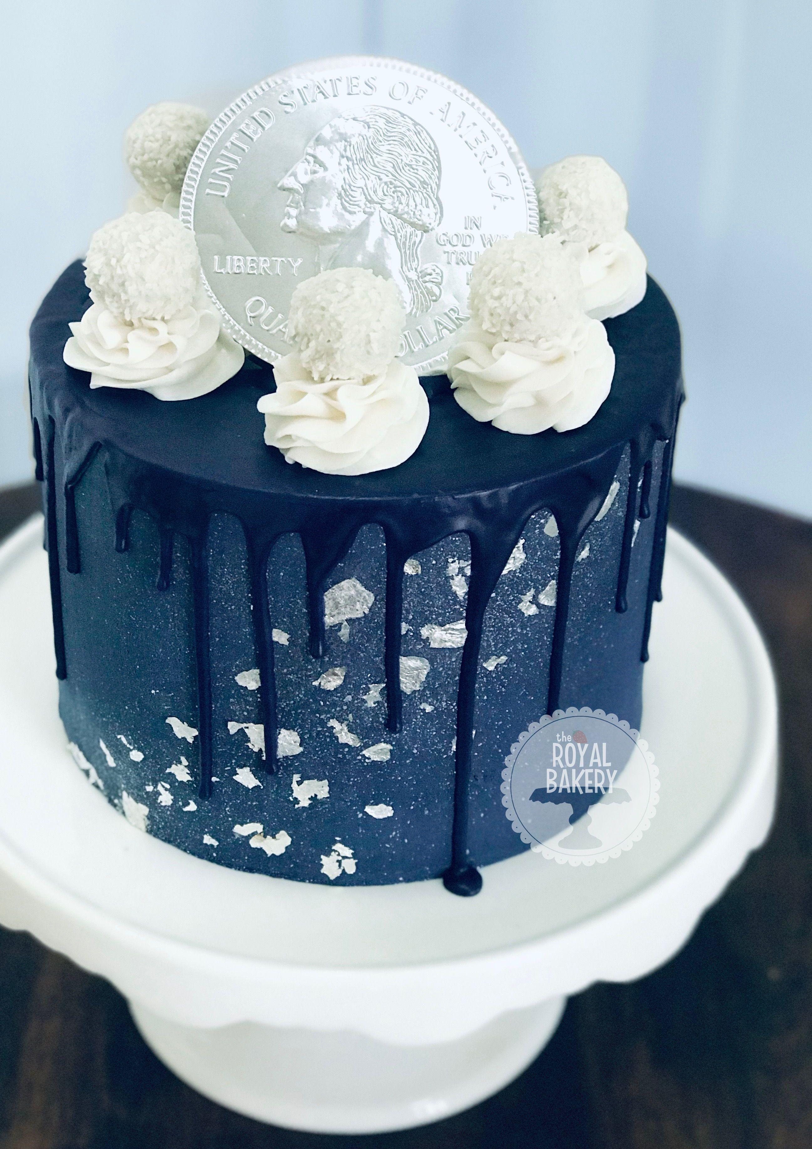 Marvelous Navy Blue Hanukkah Drip Cake Blue Birthday Cakes Blue Drip Cake Birthday Cards Printable Inklcafe Filternl