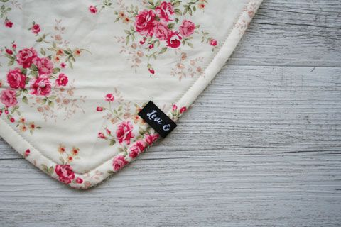 Vintage Florals in Cream Bandana Bib - Levi & Evelyn
