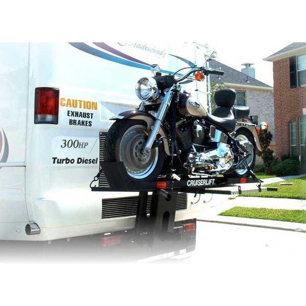 Winch Powered Rv Motorcycle Cruiser Lift Carrier Motorcycle Carrier Motorcycle Camper Equipment