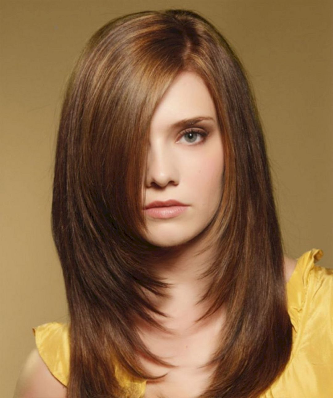 Straight Hair Round Face Straight Hair Long Layered Hairstyles 95