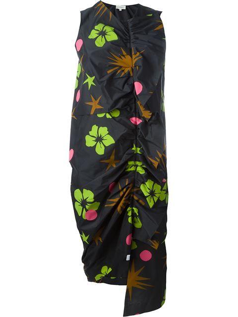 ISA ARFEN tropical print dress. #isaarfen #cloth #dress