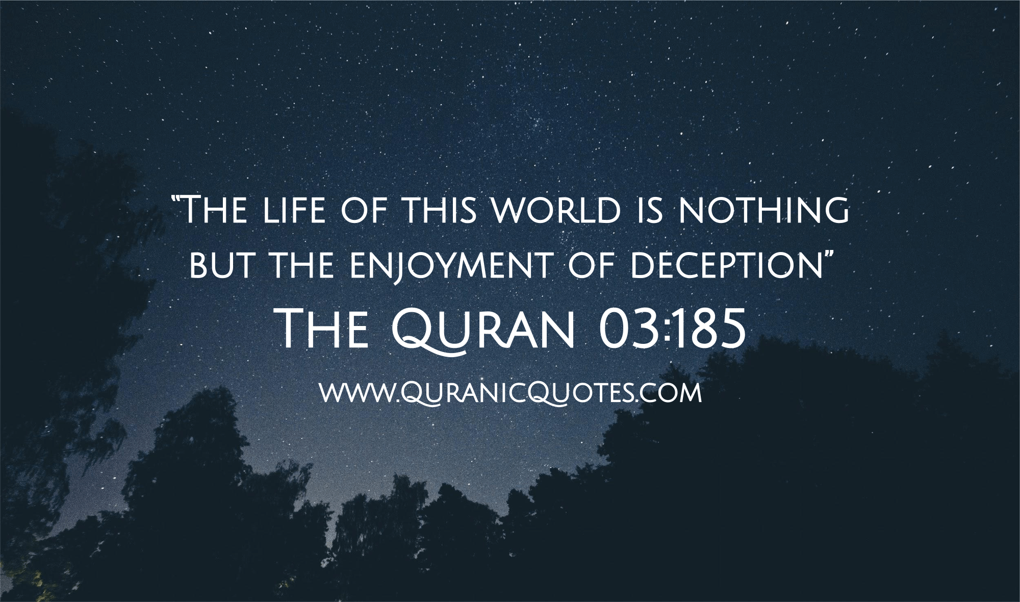 "165 The Quran 03:185 (Surah al-Imran) ""The life of this"