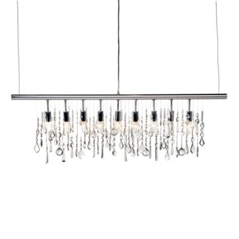 z gallerie lighting display linear strand crystal chandelier from gallerie yup this will be hanging over my dining table