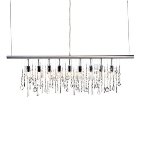 linear strand crystal chandelier z gallerie # 0