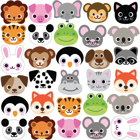 30 Animal Emoji Plus 36 Emoji Fabric Wall Decals Wall Dressed Up Emoji Fabric Fabric Wall Decals Fabric Wall