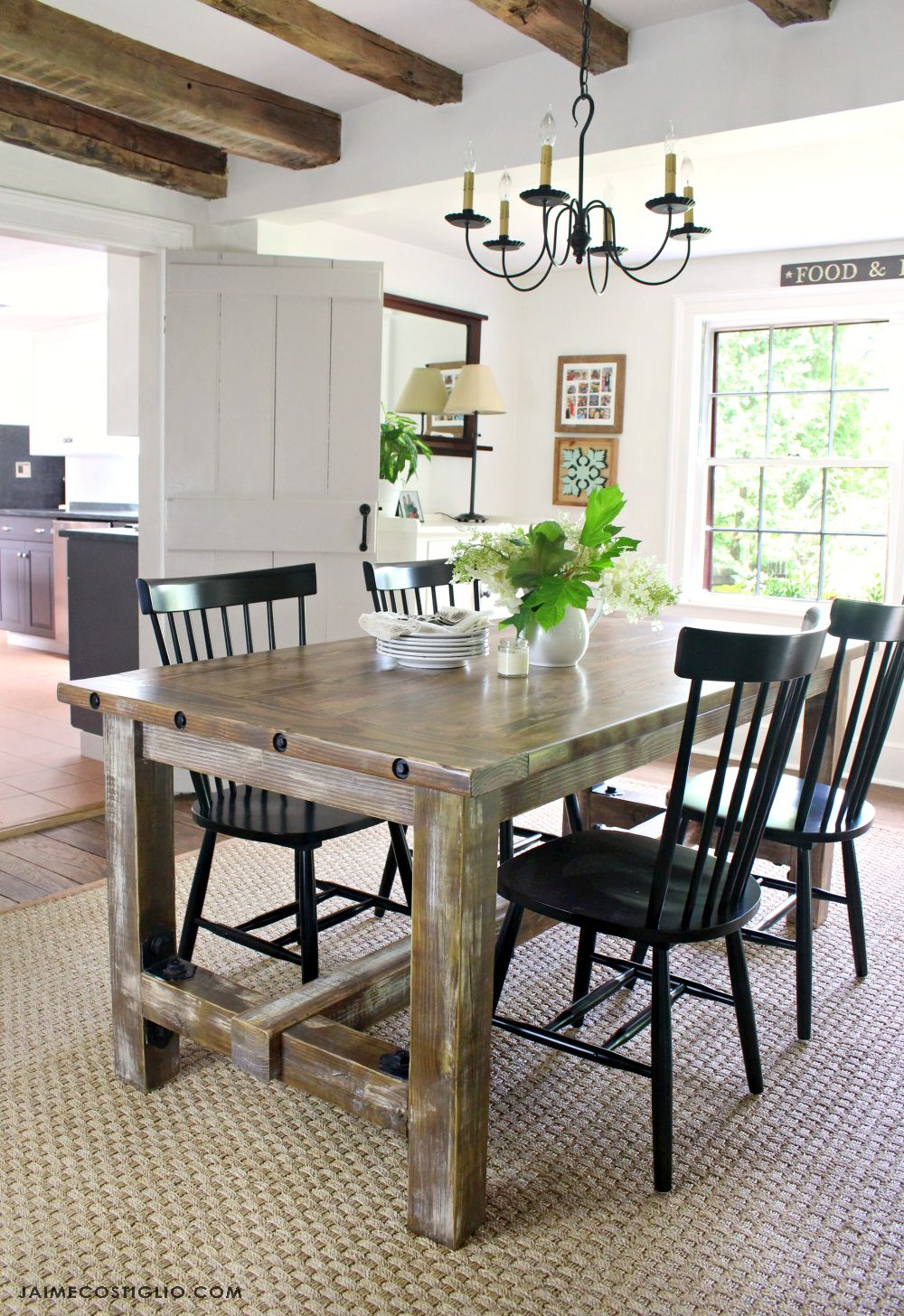 Diy How To Build A Faux Barnwood Dining Table Barnwood Dining