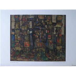 Egon Schiele # HOUSES ON THE MOLDAU # mint-