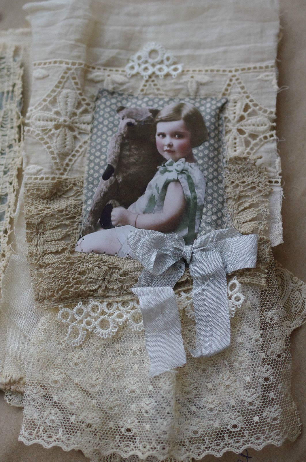 Mixed Media Fabric Collage Mini Book | eBay