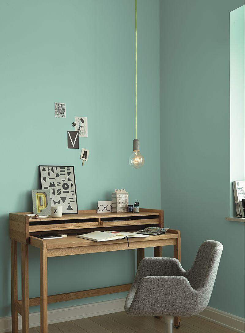 Ideen Fur Die Wandfarbe In Der Studie Alpina Color Furnishing In 2021 Haus Deko Wandfarbe Kinderzimmer Arbeitszimmer Einrichten
