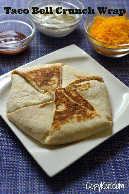 How To Make A Taco Bell Crunchwrap At Home Recipe Copykat Recipes Recipes Copycat Restaurant Recipes