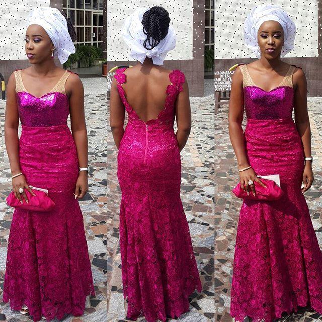 Make a lace dress kaba