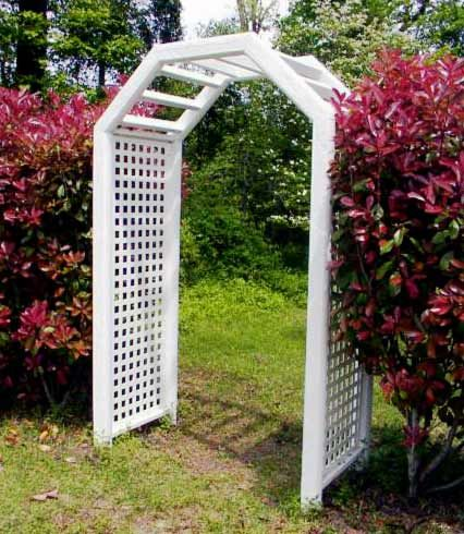 Garden archways building plans garden arbor trellis arch for Garden archway designs