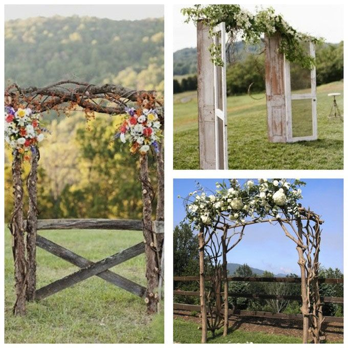 10 Perfect Wedding Arches For Every Theme And Style: Arches Mariage Champêtre