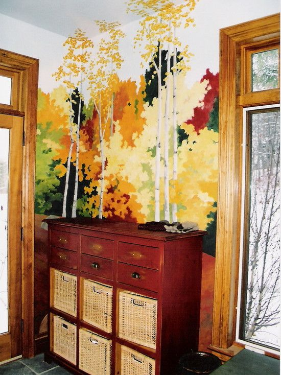 How To Paint A Tree On A Wall Design, Pictures, Remodel, Decor and ...