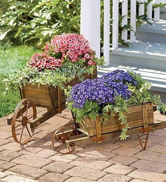 Maceteros y floreros para jardin (25 macetas Pinterest Patios - maceteros para jardin