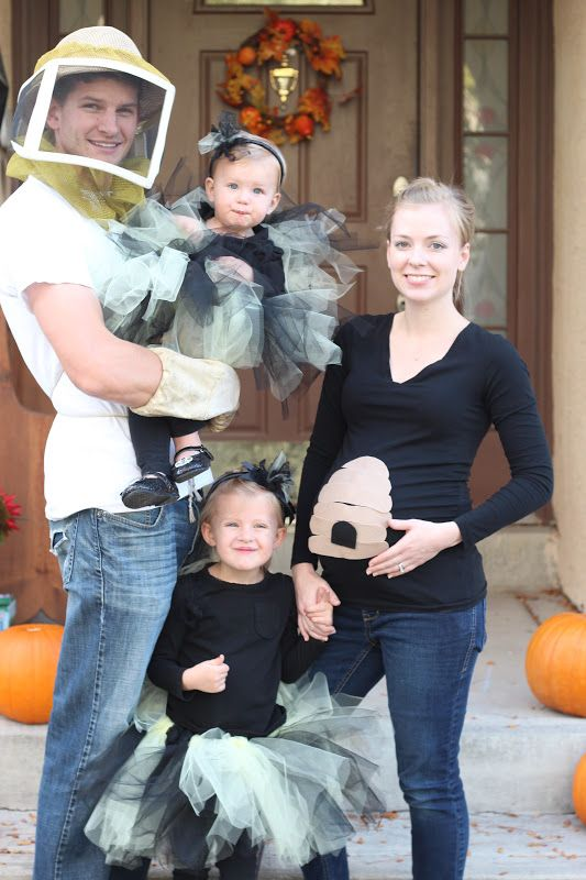 Halloween Family of Bees Halloween Pinterest Bee family and - pregnant couple halloween costume ideas