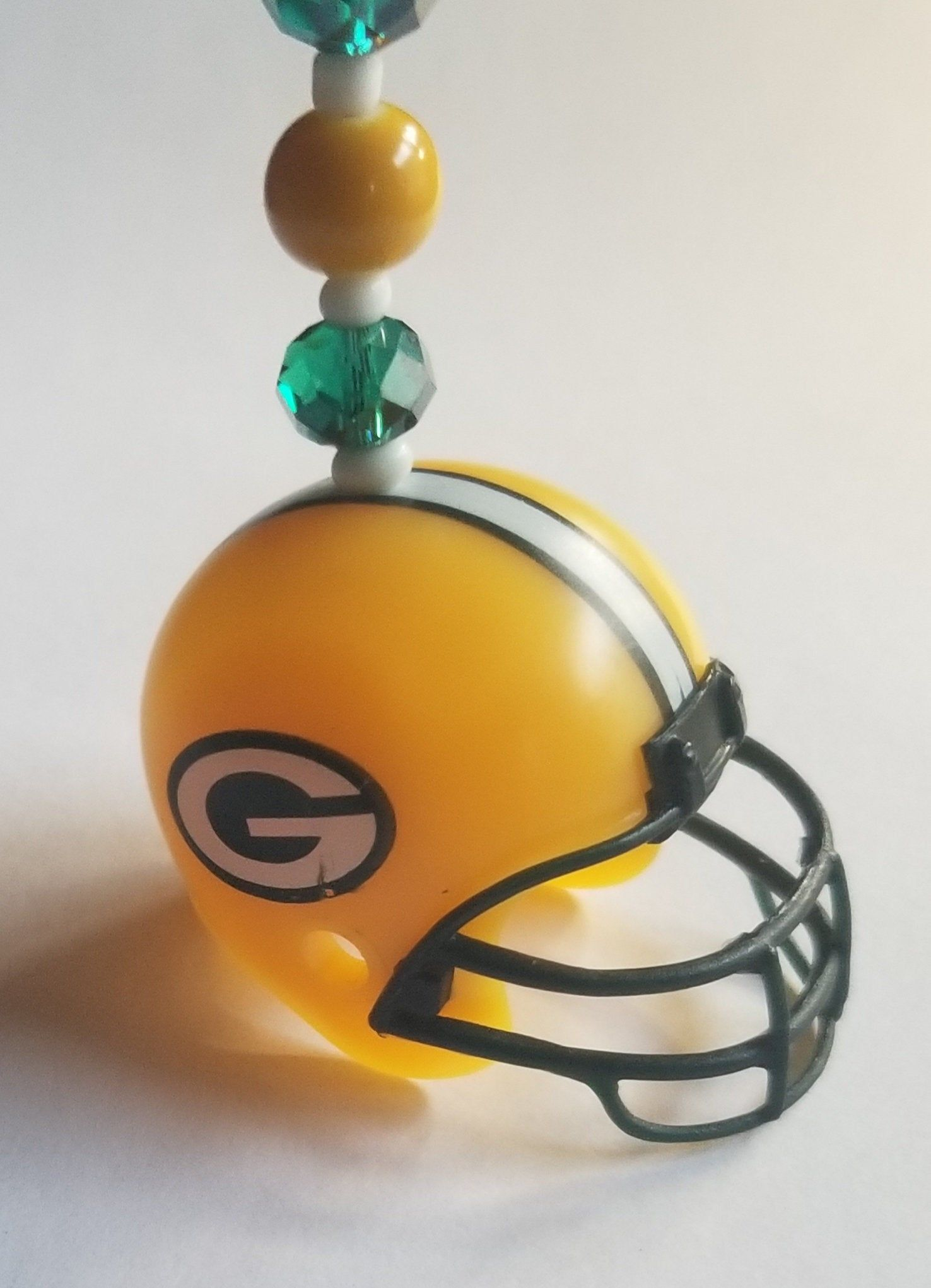 Green Bay Packers Nfl Football Helmet Rear View Mirror Car Charm Sports Gift White Green Gold Yellow In 2020 Nfl Football Helmets Car Charms Football Helmets