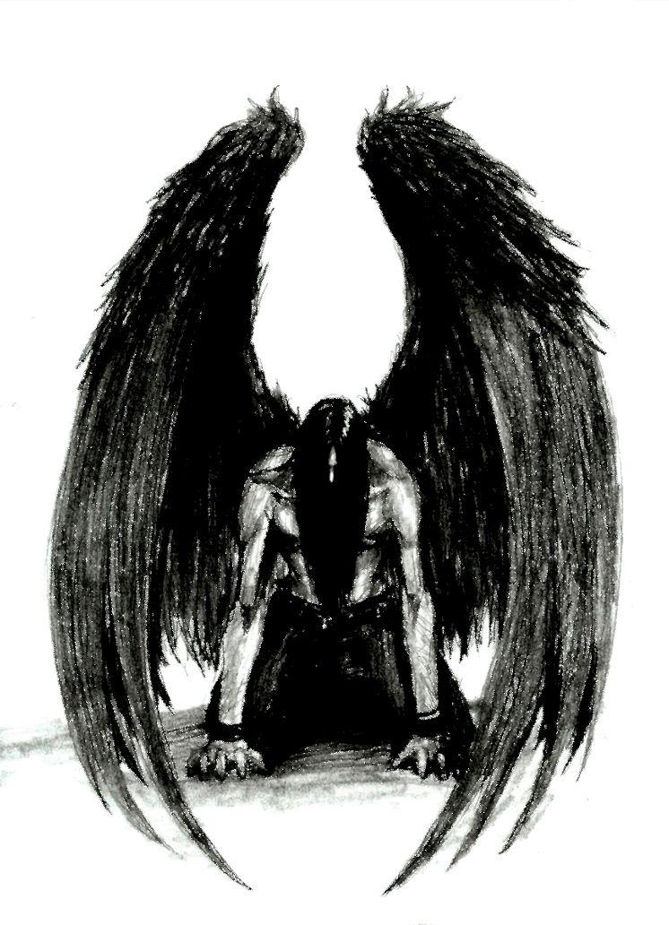 Ange Noir Tatouage Ange Démon Ange Et Ange Demon