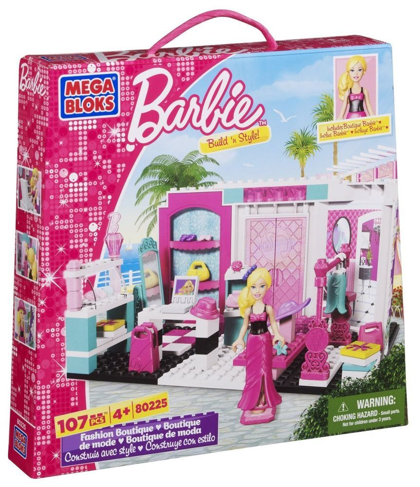 Mega Bloks Barbie Build N Style Fashion Boutique Toy Playset Fashion Boutique Barbie Barbie Kids