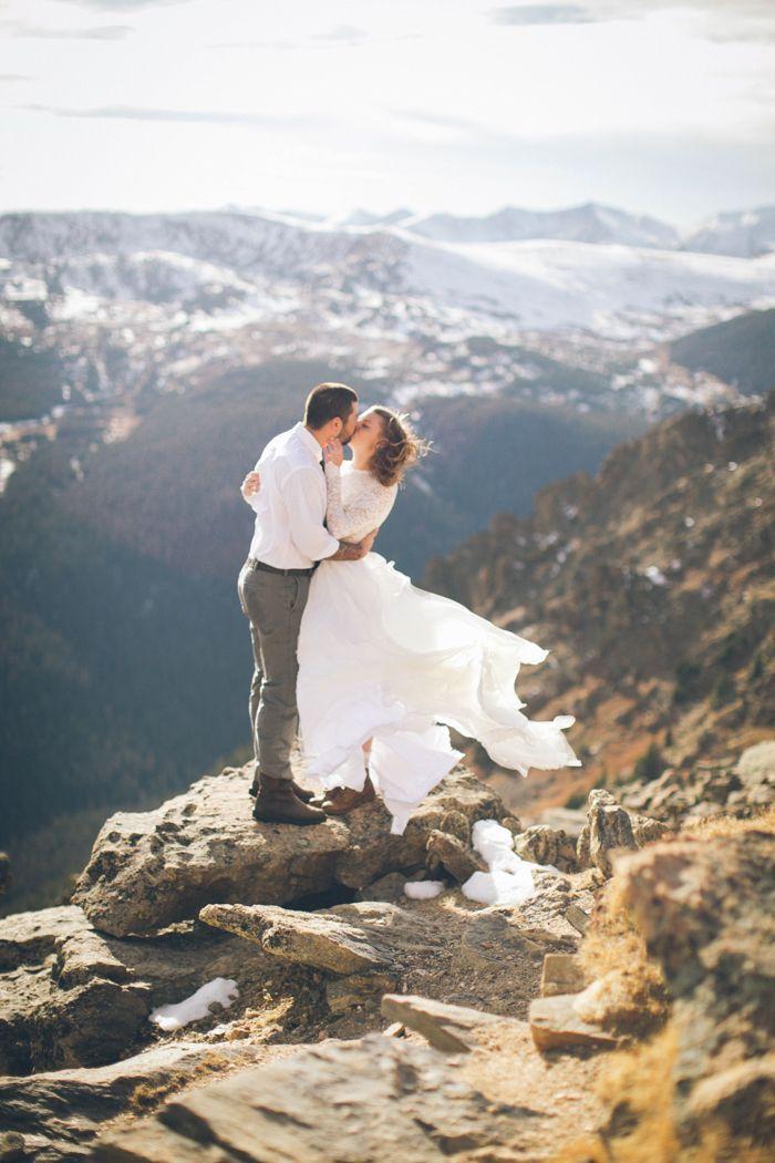 Epic Mountain Top Elopement At Estes Park