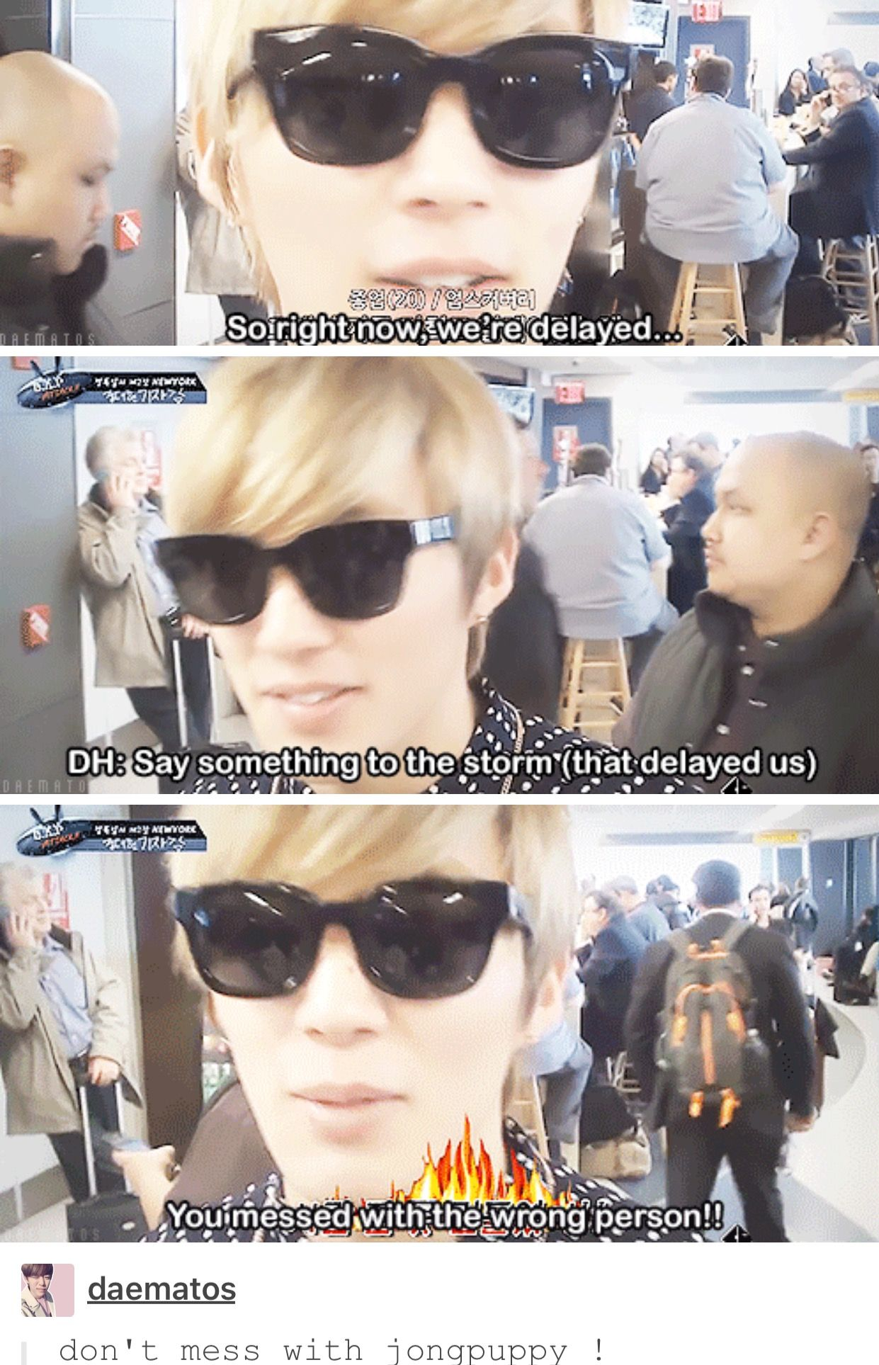 I dont think the storm is going to really apologise Jongup haha