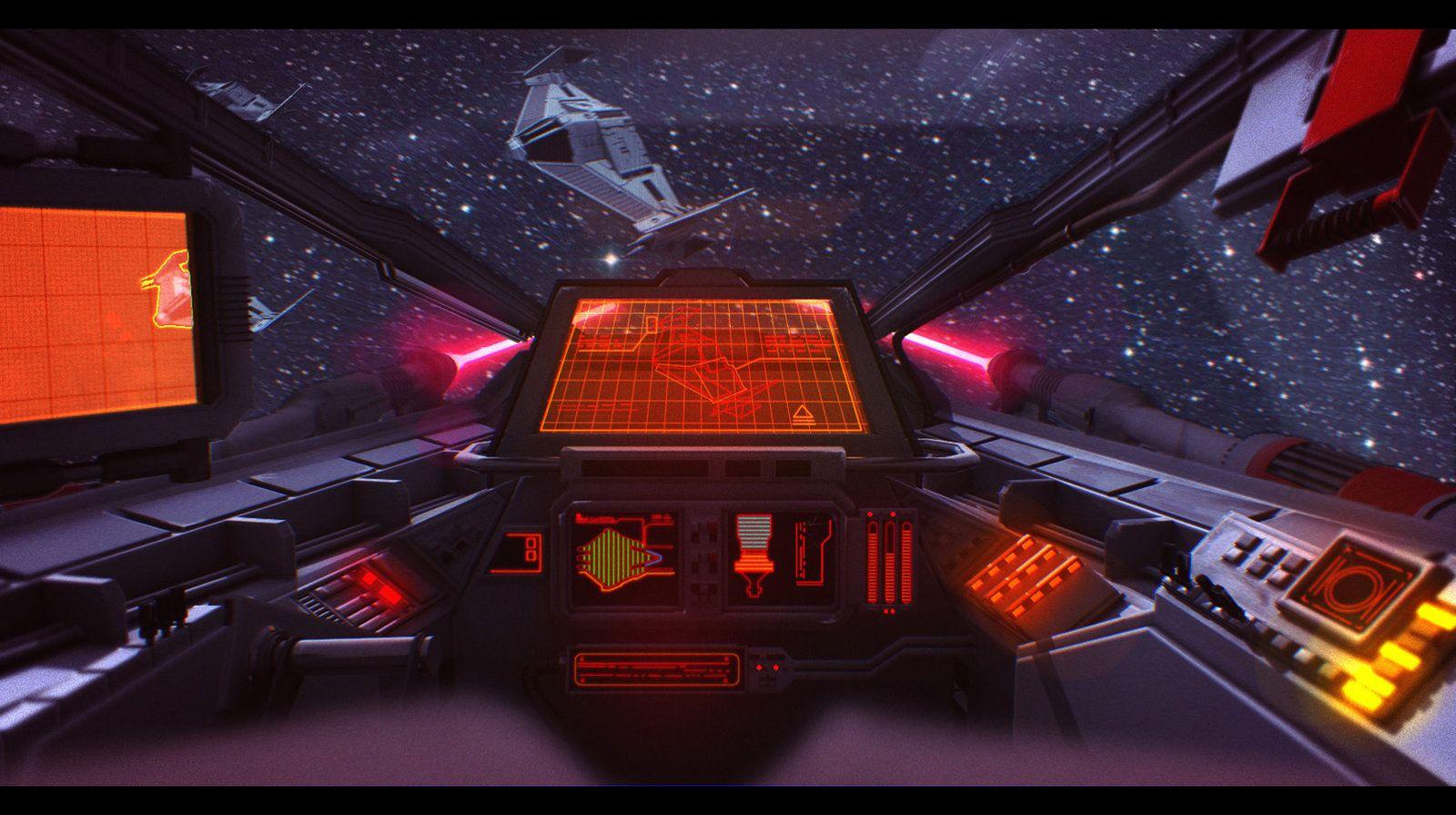 Incom T 20 H Wing Cockpit Cockpit Star Wars Illustration Spaceship Design