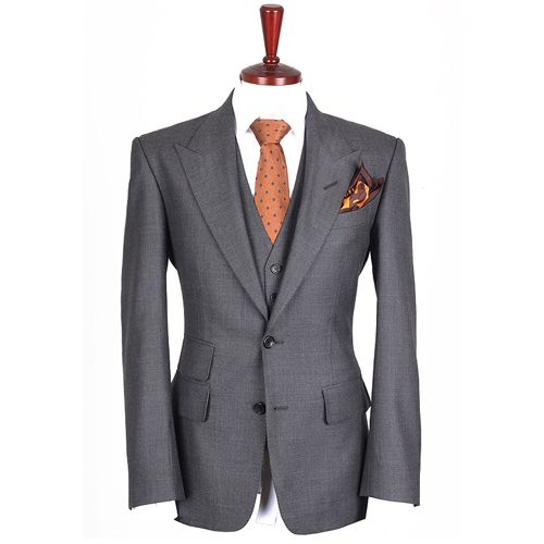 Tom Ford Suits for Sale | Tom Ford Grey 3P Suit (Custom Design ...
