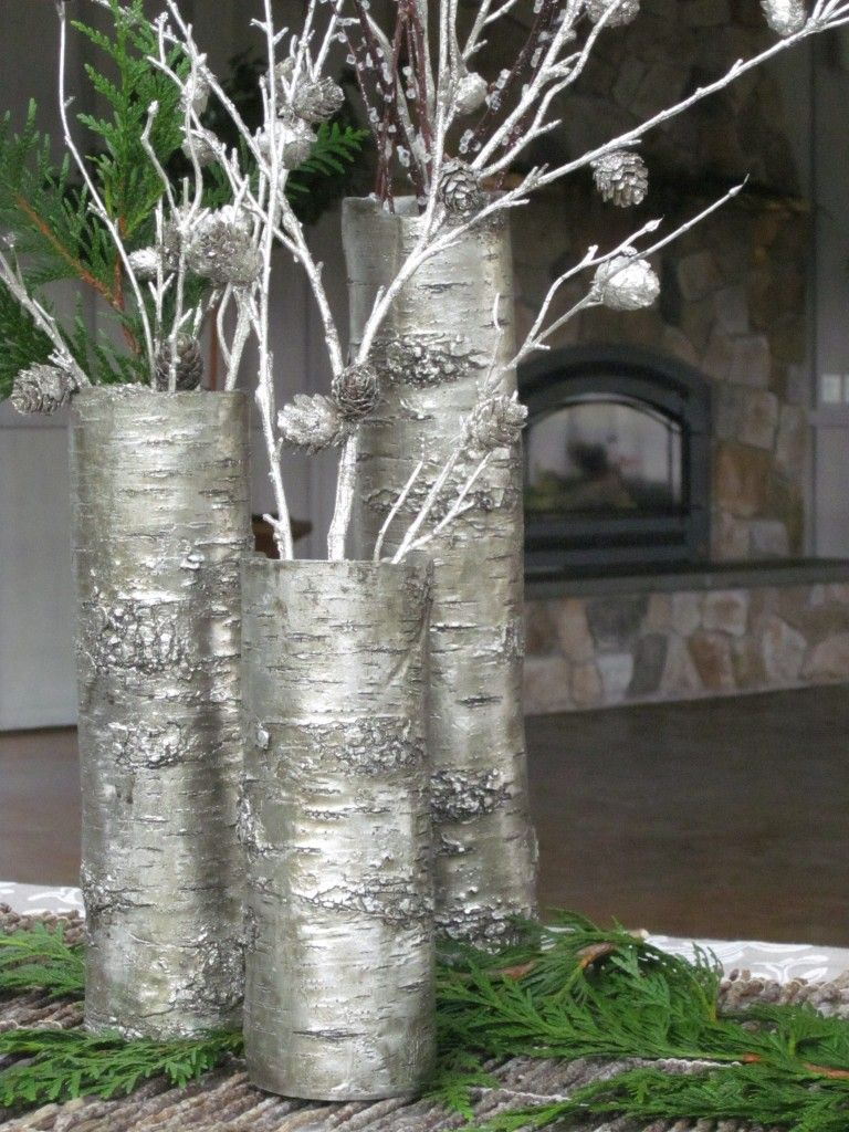 Winter bouquet metallic spray painted branches in vase can be winter bouquet metallic spray painted branches in vase can be anchored down with reviewsmspy