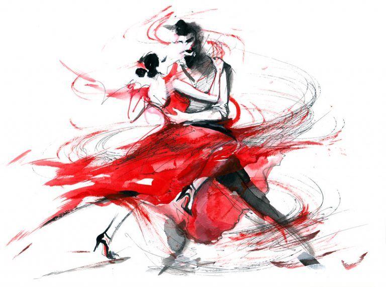 Wann entscheidet sich ein Mann für seine Geliebte und verlässt seine Frau? | Tango kunst