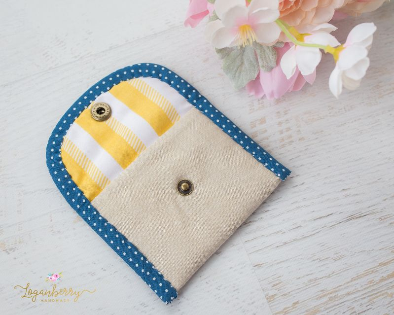 Mini Card Wallet + Sewing Tutorial + Free Pattern, linen wallet ...