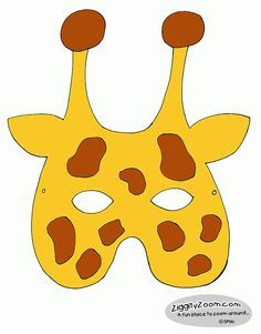 giraffe mask template free printable