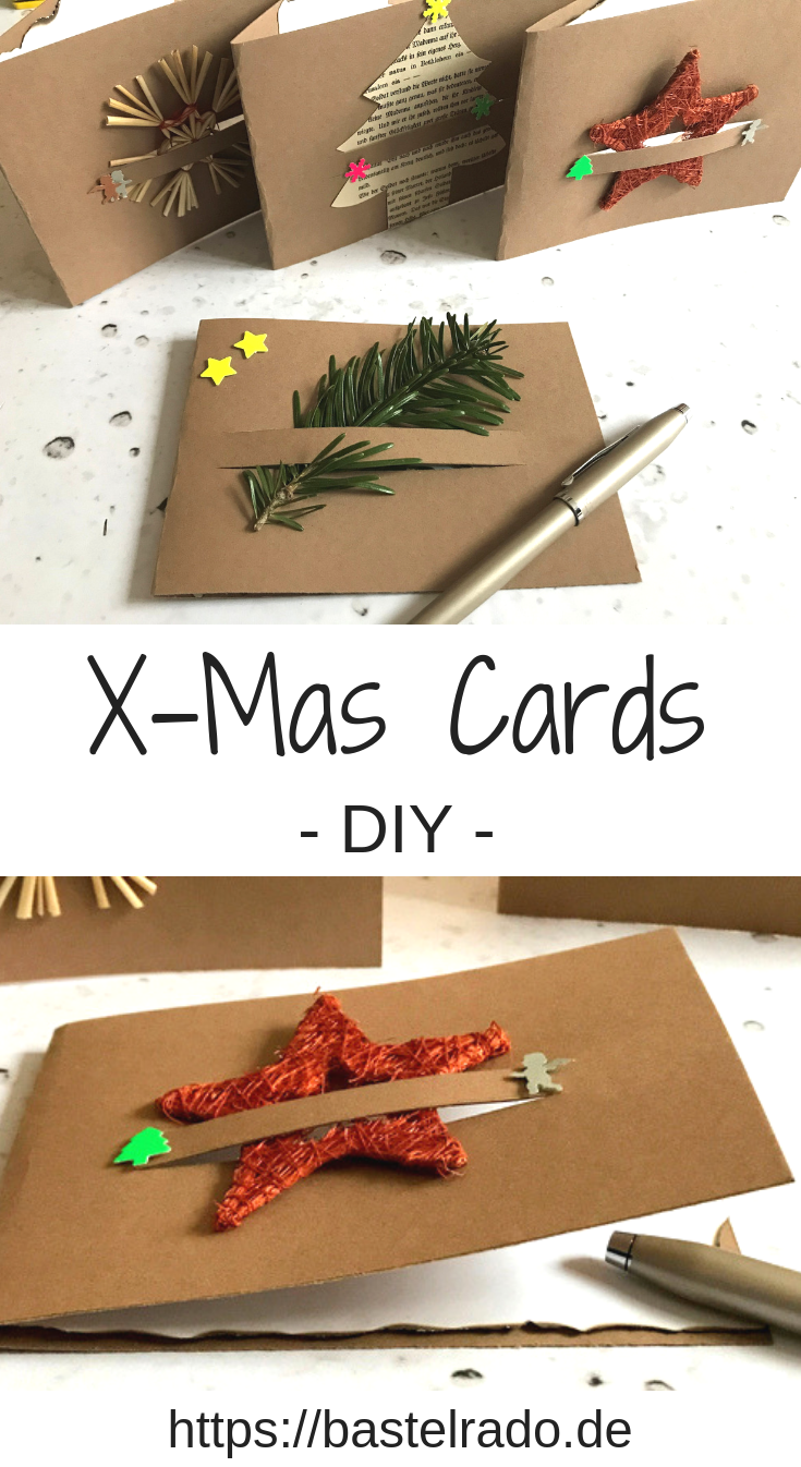 DIY Weihnachtskarten - schnell und günstig #weihnachtskartenbastelnmitkindern