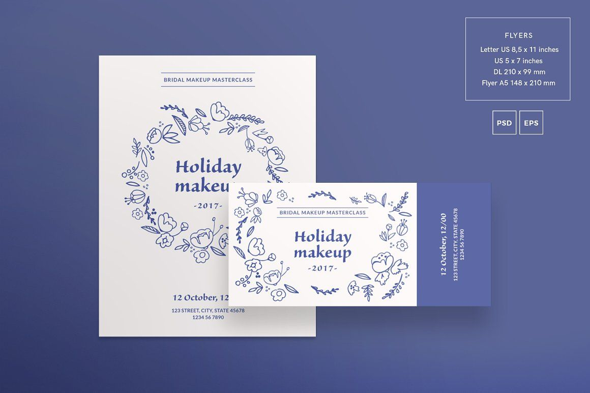 Flyers Holiday Makeup Amber Graphics Flyer Template For Makeup